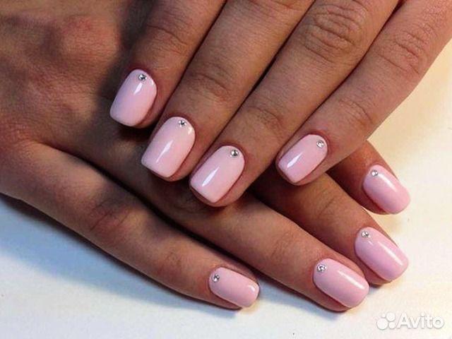 Красивое покрытие гель лаком на короткие ногти