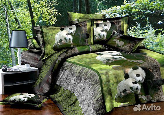 Спальный комплект 3d белья панды