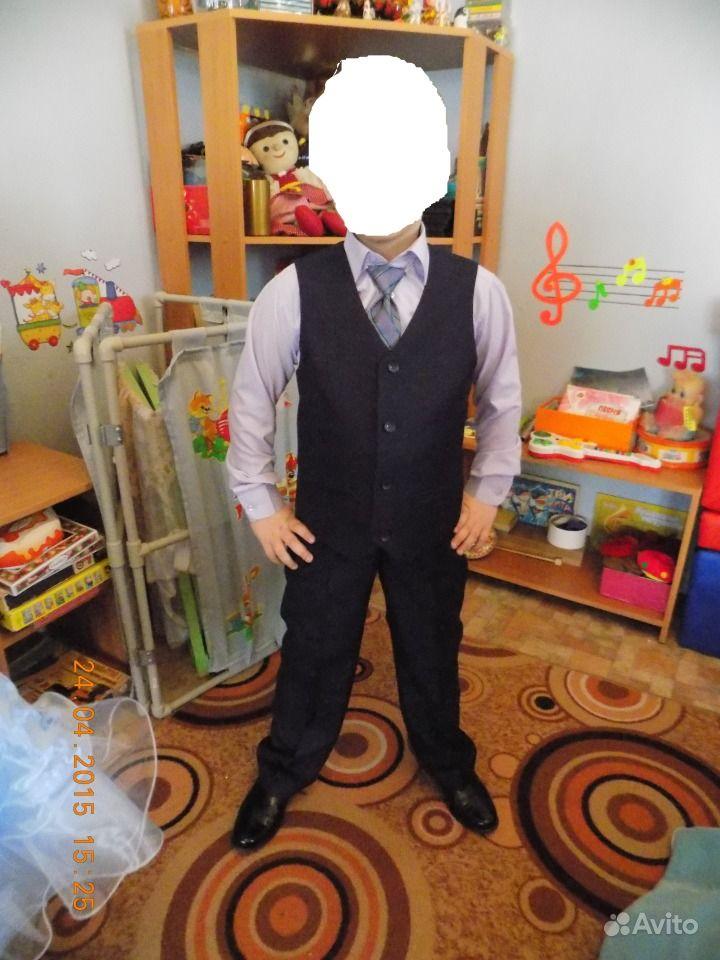 Брюки и рубашка с коротким рукавом мужская - f3