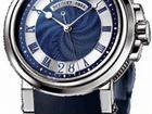 Breguet Marine Blue Dial Automatic Big Date Men's