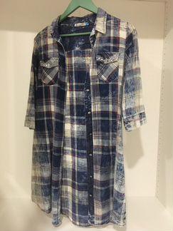 Платье-рубашка с ремнём объявление продам