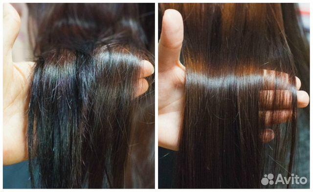 Картинки по запросу полировка волос до и после
