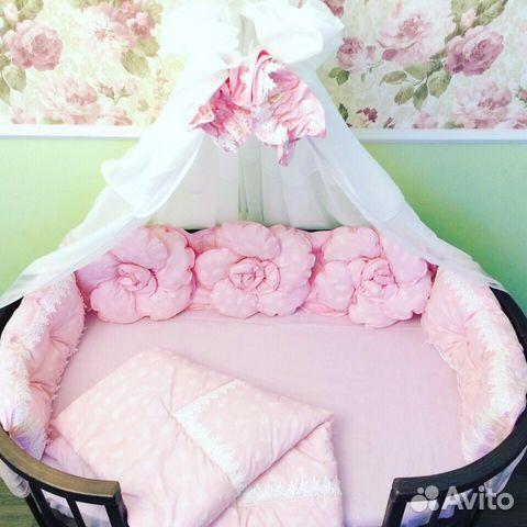Бортики косы в кроватку для новорожденных