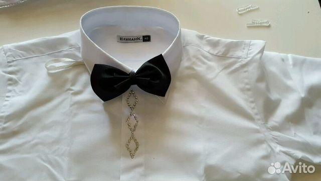 0d2aad2bd06 Рубашка белая со стразами и бабочкой