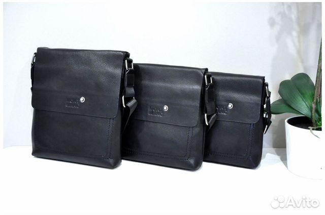 205206c1462e Мужская сумка Mont Blanc натуральная кожа новая | Festima.Ru ...