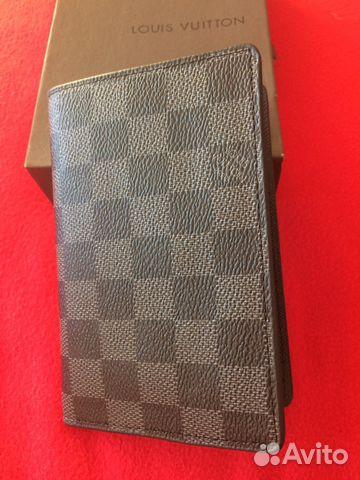 b8559acb84be Обложка для паспорта Louis Vuitton серого цвета | Festima.Ru ...