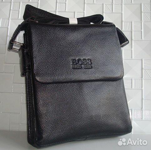 61494fda7809 Мужская кожаная сумка планшет Hugo Boss New купить в Москве на Avito ...