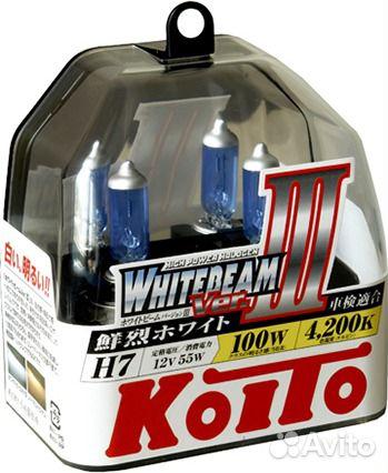 Лампы H7 Koito WhiteBeam III 89021728684 купить 1