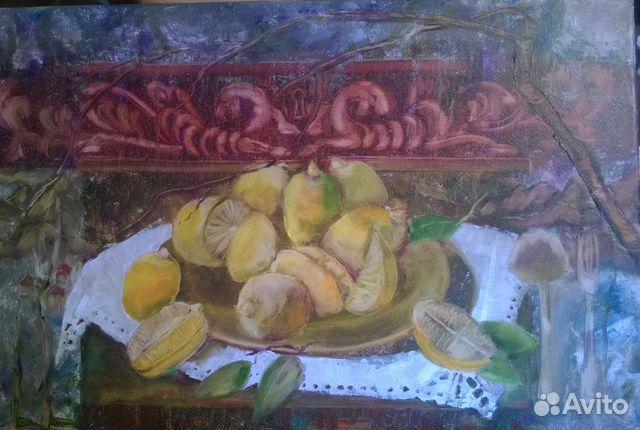 Картина маслом Рождественские лимончики