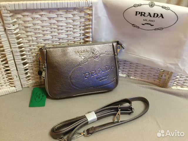 Prada клатч женский доставка купить в Москве на Avito — Объявления ... 9ef03fc355d