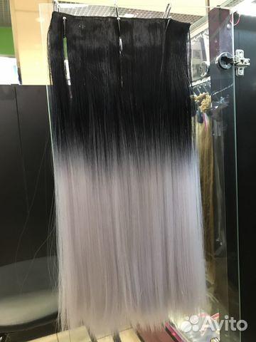 Волосы на заколках купить 5