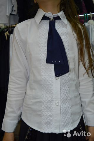 b88a4abaf86 Блузка-рубашка С галстуком