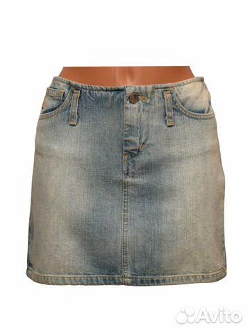 3e9efab4d Джинсовая юбка синяя короткая, Италия новая 6066 купить в Москве на ...