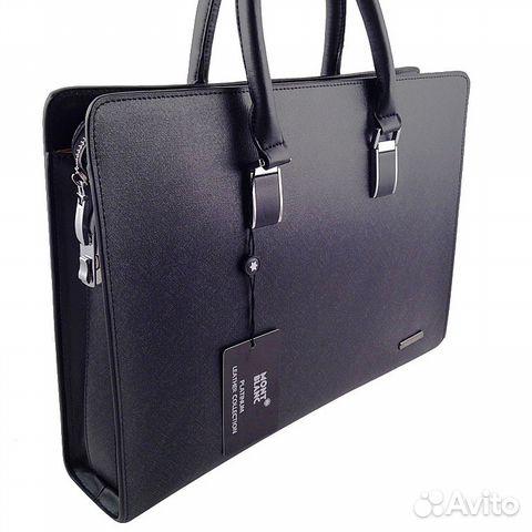 17603c2f627a Мужская сумка портфель через плечо Mont Blanc купить в Москве на ...