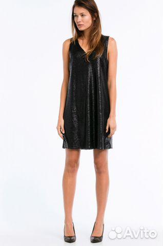 59e955f842b Шикарное вечернее нарядное платье черное с пайетка— фотография №1
