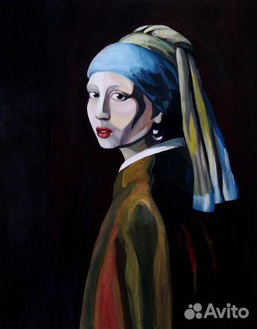 Картина Девушка с жемчужной сережкои, копия