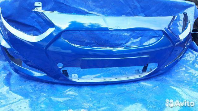 Бампер Hyundai Solaris Дорестайлинг цвет Синий