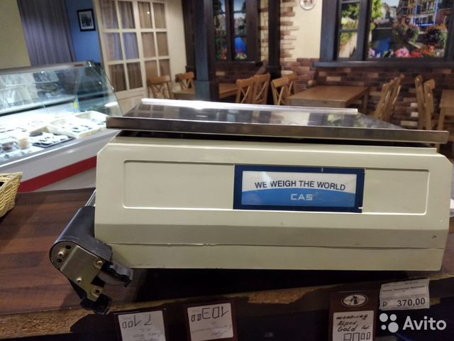 Электронные весы с принтером чеков