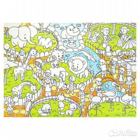 Плакат-раскраска для малышей 50 х 70 см 89127498911 купить 1
