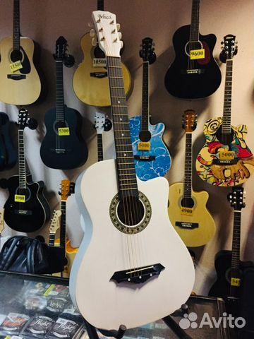 Гитара акустическая Belucci белая  89171930067 купить 2
