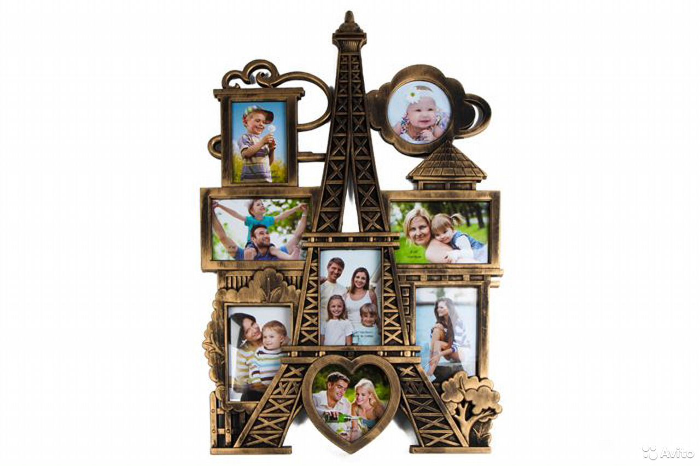 Фоторамка Панорама Парижа на 8 фото 10х10 см, 9х  89674704717 купить 1