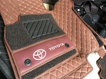 3D Коврики Экокожа Toyota Land Cruiser 200 (коричн