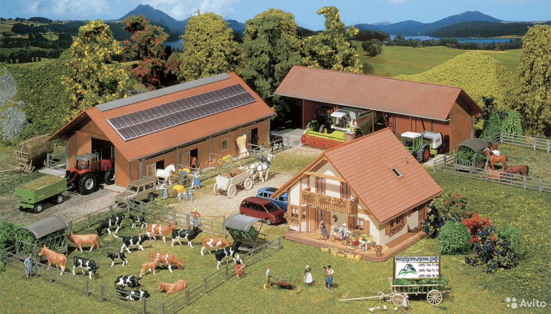 Сельхоз участок, ферма, коровы, бараны, техника