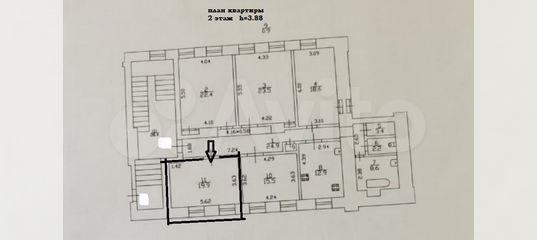 Комната 20 м² в 1-к, 2/3 эт.