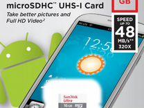 Новая Карта памяти Sandisk Ultra Class 10 16Gb