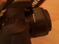 Зеркальный фотоаппарат Canon eos 600d + объектив — Фототехника в Москве