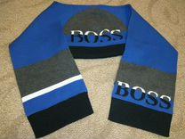 Комплект детский hugo boss шапка и шарф