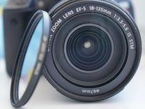 Фотоаппарат Canon 650d + объектив Canon 18-135 STM — Фототехника в Магнитогорске