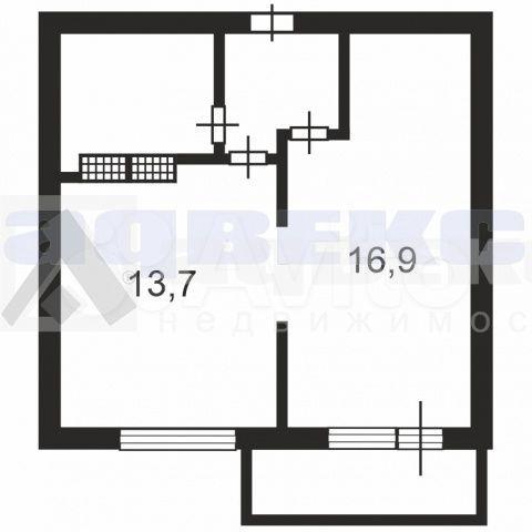 1-к квартира, 40 м², 13/17 эт.  88129211703 купить 5