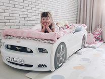 Детская кровать машина Мустанг плюс